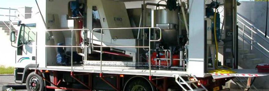Traitement mobile des effluents
